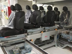 NT 870 00. Assembly line for automovile seats