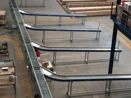Roller conveyor line