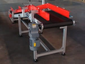 Belt conveyor with inflexion