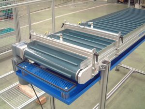 PVC Belt conveyor with cleats